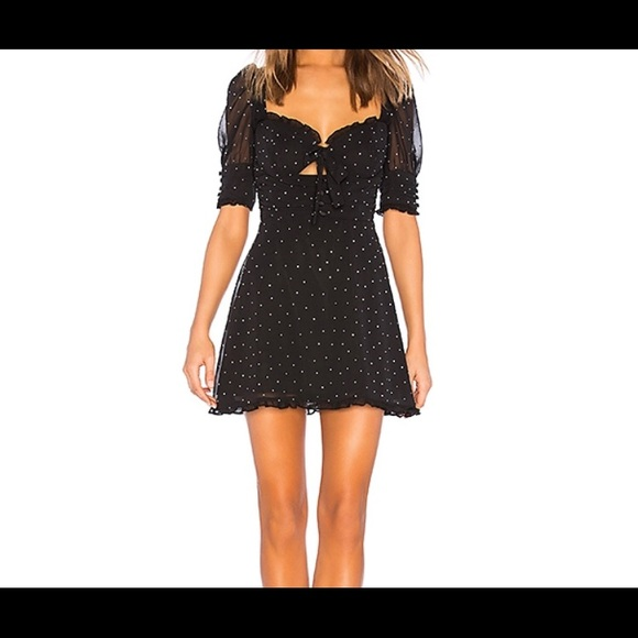 966cefe8b21 For love and lemons lucky dice mini dress XS